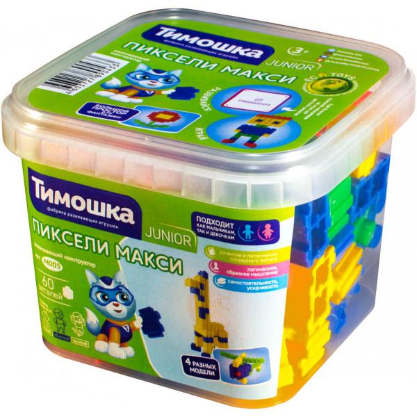 Конструктор ТИМОШКА Пиксели макси 60 деталей М005