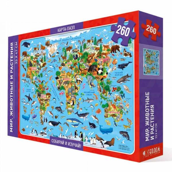 Пазл ГЕОДОМ Мир-животные и растения 2265