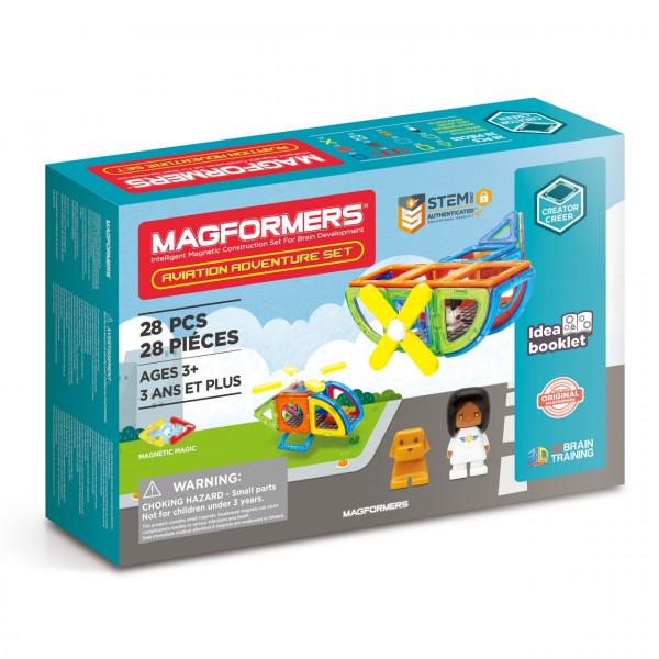 Магнитный конструктор MAGFORMERS Aviation Adventure Set 28 дет. 703015
