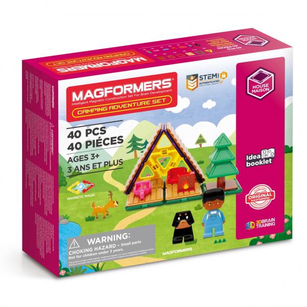 Магнитный конструктор MAGFORMERS Camping Adventure Set 40 дет. 705016