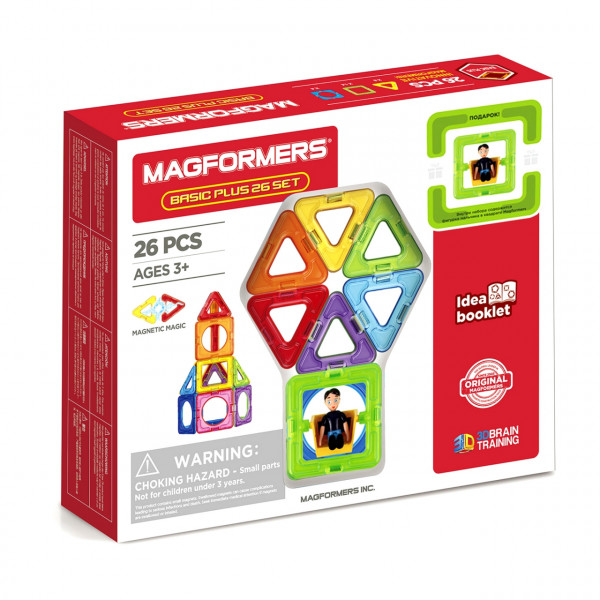 Магнитный конструктор MAGFORMERS Basic Plus Set - Мальчик 27 дет. 715014-М