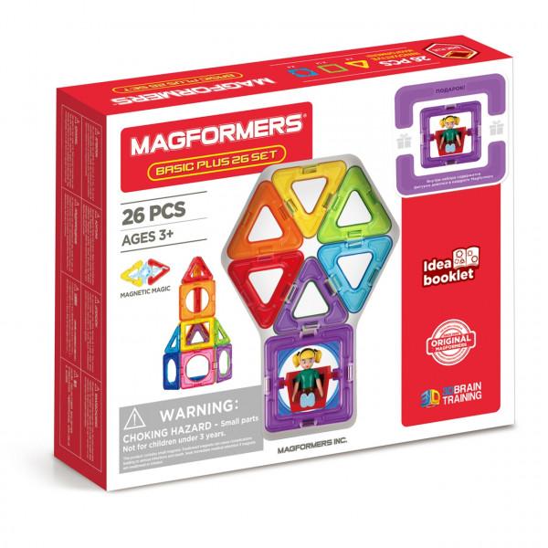 Магнитный конструктор MAGFORMERS Basic Plus Set - Девочка 27 дет. 715014-Д