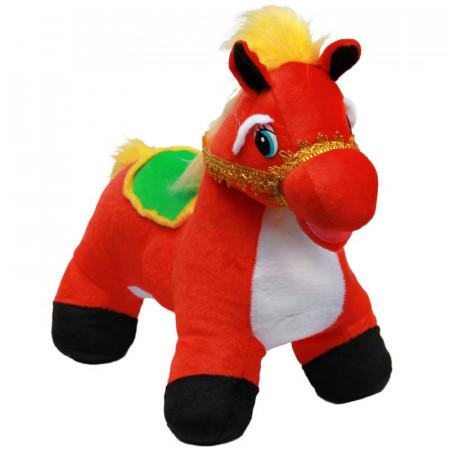Мягкая игрушка Лошадка Пони (С) /68 см/, цвет Красный