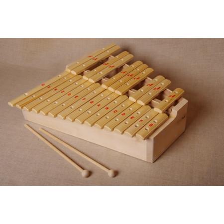 Ксилофон  хроматический  До мажор (25 пластин, на высоком резонаторе, ель)