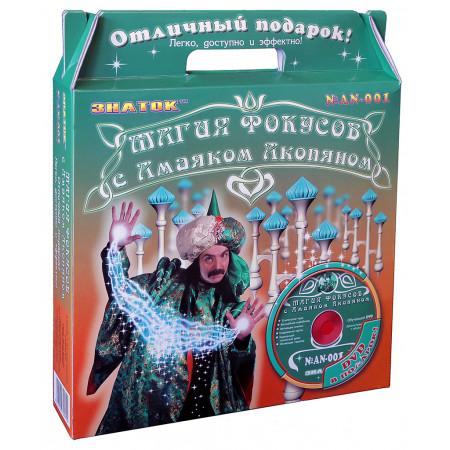 ЗНАТОК AN-001 Магия фокусов с Амаяком Акопяном набор (зелёный) с видео курсом