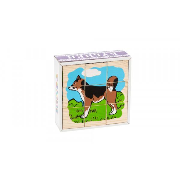 Кубики ТОМИК Домашние животные (9 шт) 4444-3