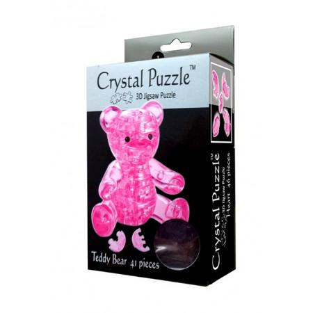 Головоломка CRYSTAL PUZZLE 90314 Мишка розовый