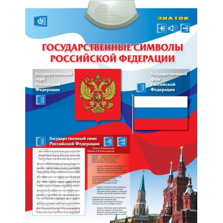 Электронный звуковой плакат ЗНАТОК PL-07-GS Государственные символы