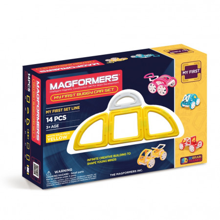 Магнитный конструктор MAGFORMERS 702005 (63144) My First Buggy, желтый