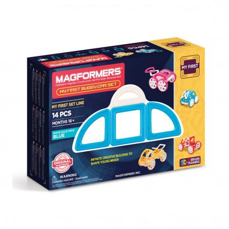 Магнитный конструктор MAGFORMERS 702007 (63146) My First Buggy, синий