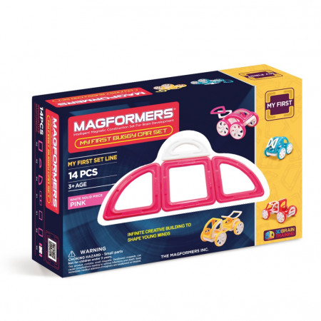 Магнитный конструктор MAGFORMERS 702008 (63147) My First Buggy, розовый