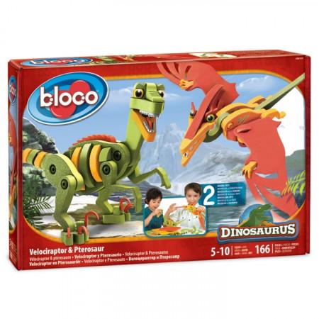 Конструктор BLOCO 30131 Динозавры: Велоцераптор и Птерозавр
