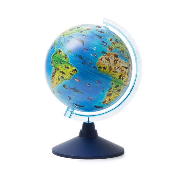Глобус GLOBEN зоогеографический детский 210 мм Ке012100207