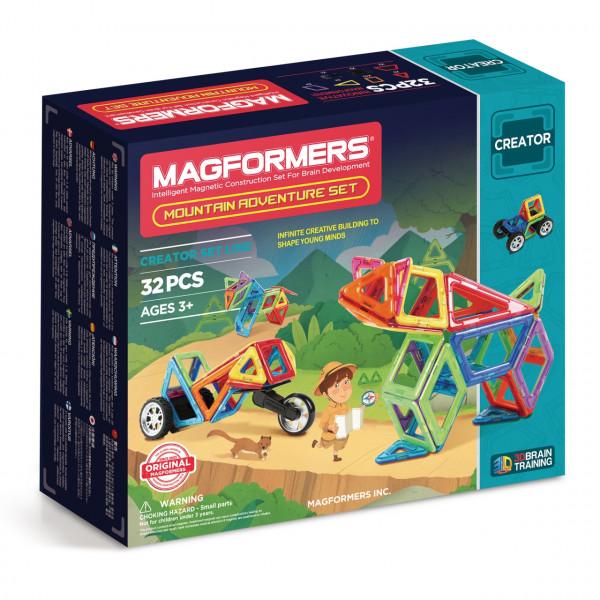 Магнитный конструктор MAGFORMERS Adventure Mountain 32 set 703011